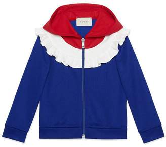 Gucci Children's technical jersey hooded sweatshirt
