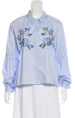 Sanctuary Embroidered Long Sleeve Button-Up