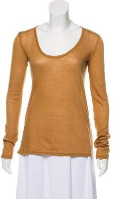 The Row Scoop Neck Long Sleeve Top