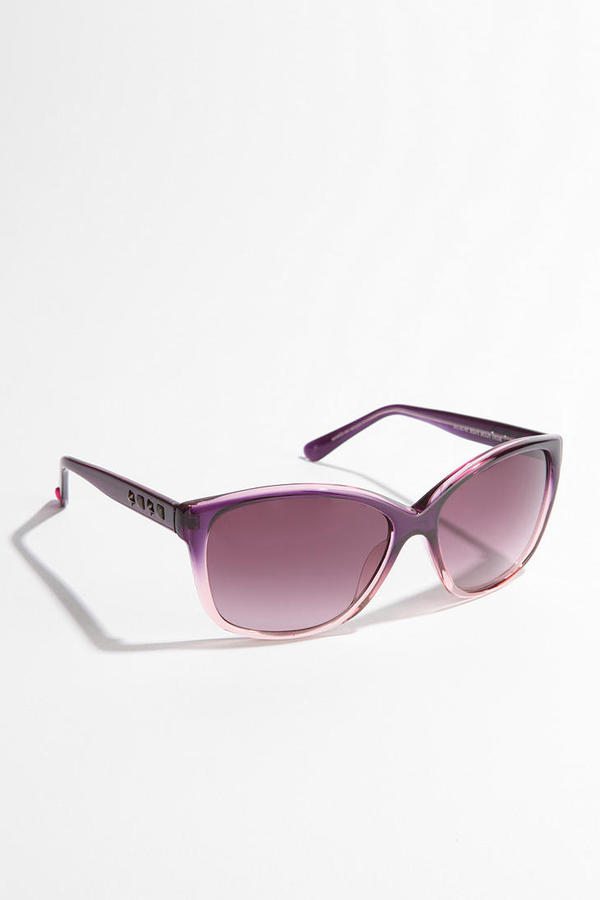 Betsey Johnson Ombre Crystal Sunglasses