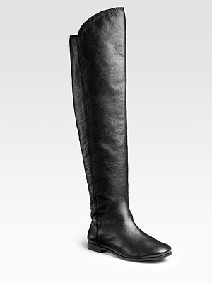 Modern Vintage Over-The-Knee Flat Boots