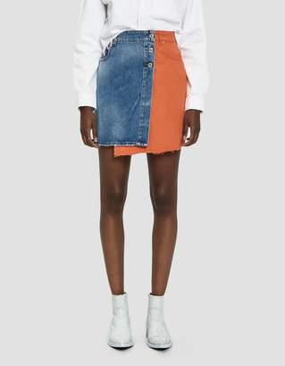 MSGM Mixed Material Mini Skirt