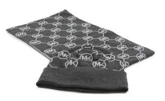 Michael Kors Scarf & Hat 2PC Set Monogram Repeat Logo