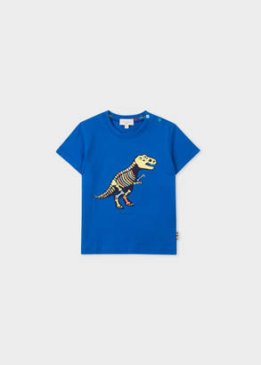 Paul Smith Baby Boys' Blue Glow-In-The-Dark 'Dinosaur' Print T-Shirt