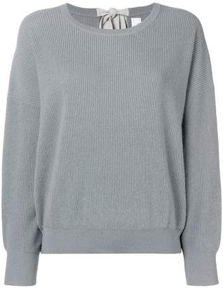 Allude drop shoulder ribbed sweater