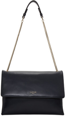 Lanvin Navy Medium Sugar Bag $1,995 thestylecure.com