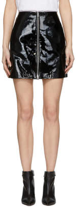 Rag & Bone Black Patent Heidi Miniskirt