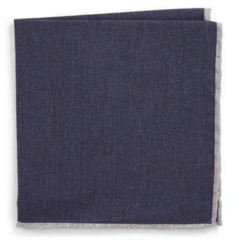 Eleventy Solid Wool & Cotton Pocket Square