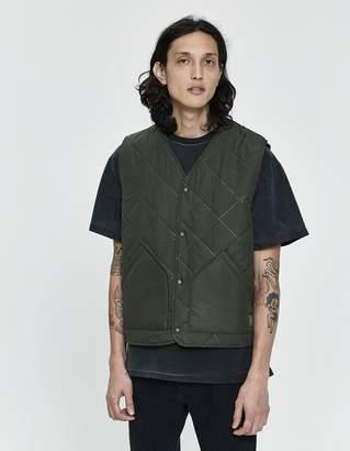 Herschel Sonic Quilt Vest in Dark Olive