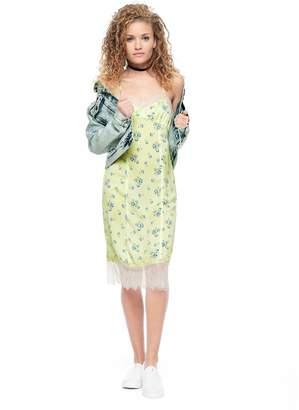 Juicy Couture Lace Slip Print Dress