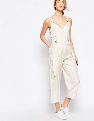 Asos Design Jumpsuit with Strapping Detail