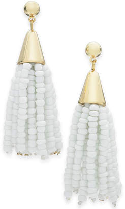 INC International Concepts I.N.C. Gold-Tone Crystal & Stone Circle Triple Drop Earrings, Created for Macy's
