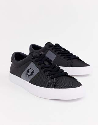 Fred Perry Underspin two tone poly sneakers in black