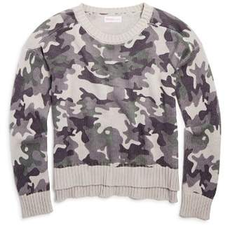 Design History Girls' Camo-Print Sweater - Big Kid
