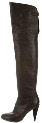 Balenciaga Leather Over-The-Knee Boots