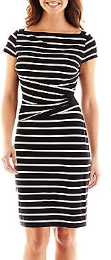 JCPenney American Living Striped Sheath Dress