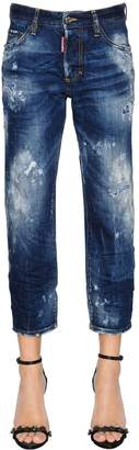 DSQUARED2 Destroyed Tomboy Cropped Denim Jeans