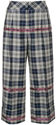 Antonio Marras checked cropped trousers