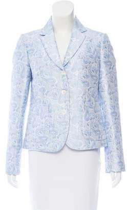 Michael Kors Jacquard Single-Breasted Blazer