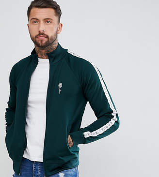 Asos Rose London Track Jacket In Green Exclusive To