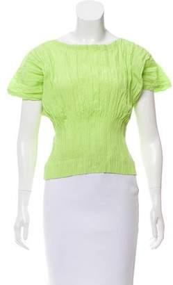 Issey Miyake Plissé Short Sleeve Top