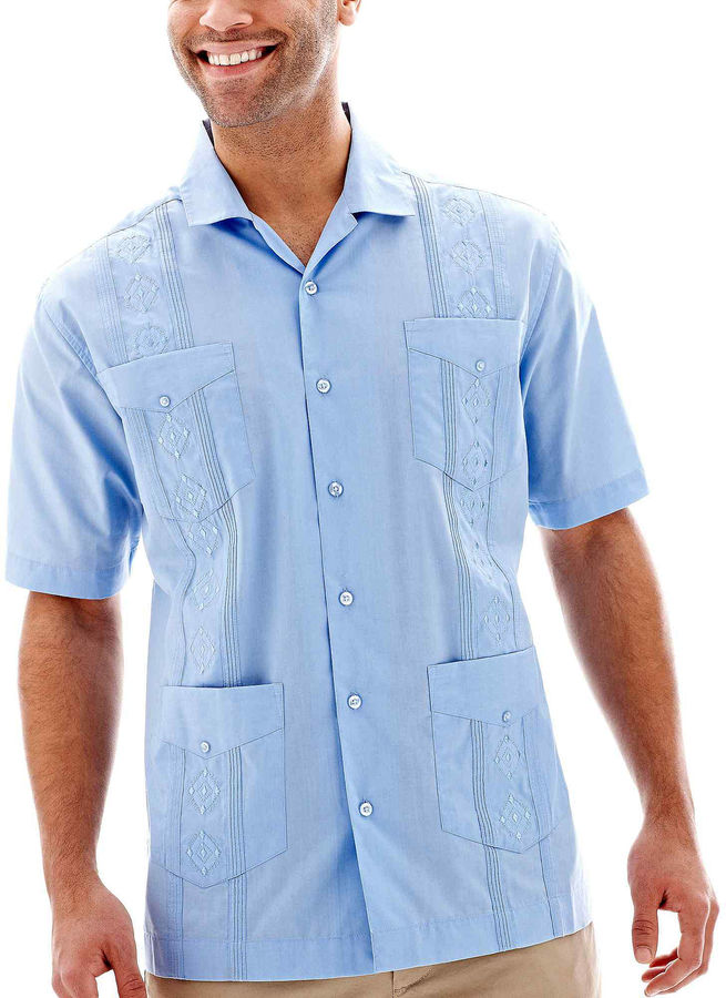 Havanera the havanera co guayabera shirt shopstyle for Stafford white short sleeve dress shirts
