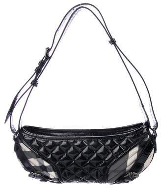 Burberry Quilted Patent Leather Hobo