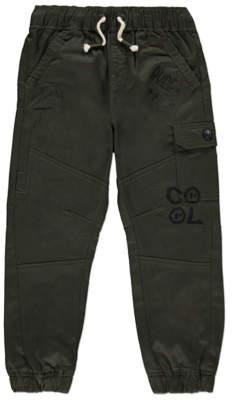 George Khaki Graffiti Print Cargo Trousers