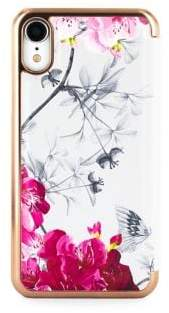 Ted Baker Babylon Nickel Mirror Folio iPhone XR Case