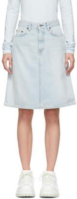Acne Studios Blue Bla Konst Denim Shadow Skirt