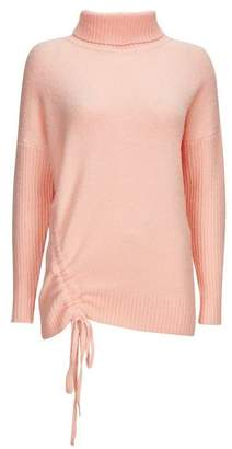 Wallis Apricot Ruched Funnel Neck Jumper