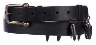 Ann Demeulemeester Leather Studded Belt