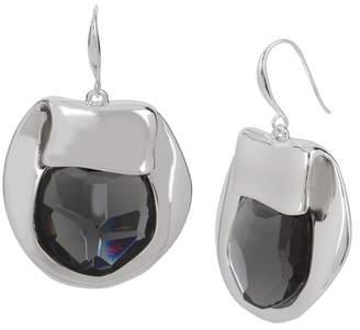 Robert Lee Morris Faceted Black Stone Drop Earrings