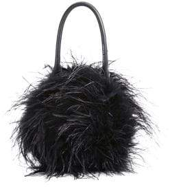 Loeffler Randall Zadie Feather Circle Clutch Bag