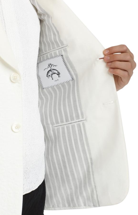 Brooks Brothers White Shawl Collar Tuxedo Jacket