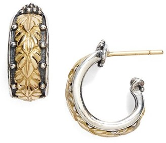 Women's Konstantino 'Hebe' Etched J-Hoop Earrings $790 thestylecure.com