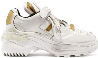 Maison Margiela Retro Fit deconstructed low-top leather trainers
