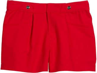 Mayoral Sateen Poplin Pleated Shorts, Size 8-16