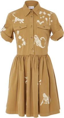 RED Valentino Cotton Twill Dress With Monkey Print