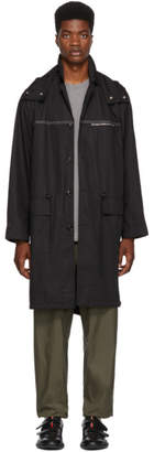 3.1 Phillip Lim Black Oversized Parka Coat