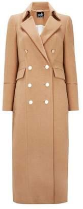 Wallis Camel Long Military Coat