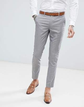 Harry Brown Lilac Puppy Tooth Wedding Skinny Fit Suit PANTS