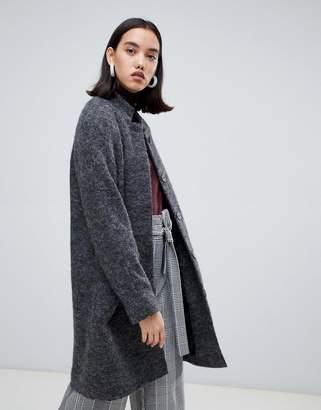 Selected wool midi length coat