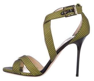 Jimmy Choo Neon Ankle Strap Sandals