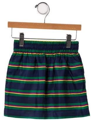 Ralph Lauren Girls' Stripe Silk Skirt