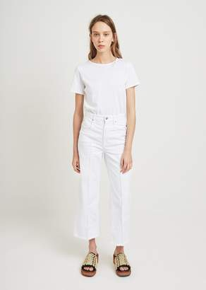 Etoile Isabel Marant Cabrio Wide Leg Jeans White