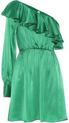 MSGM One-shoulder silk-blend minidress