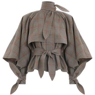 Zimmermann Unbridled Cape Tie Jacket