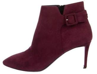 Giuseppe Zanotti Suede Pointed-Toe Booties