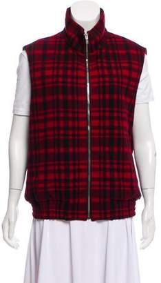 Saint Laurent Plaid Wool Vest